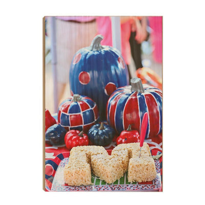 Ole Miss Rebels - Mississippi Pumpkin - College Wall Art #Wood