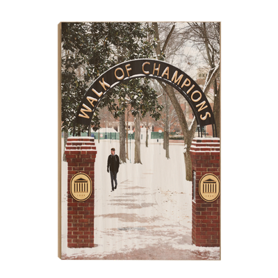 Ole Miss Rebels - Snowy Walk of Champions - College Wall Art #Wood