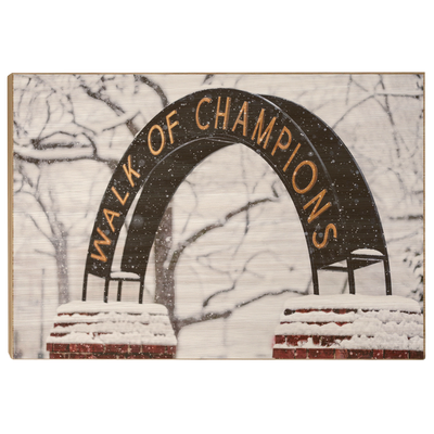 Ole Miss Rebels - Snowy Day Walk of Champions - College Wall Art #Wood