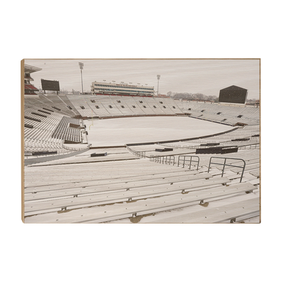 Ole Miss Rebels - Snow Day-Vaught- Hemingway - College Wall Art #Wood