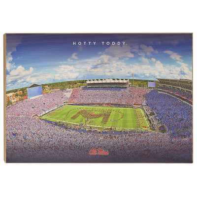 Ole Miss Rebels - Hotty Toddy - College Wall Art #Wood