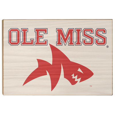 Ole Miss Rebels - Ole Miss Land Shark - College Wall Art #Wood