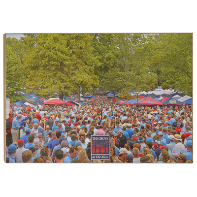 Ole Miss Rebels - Swarm the Grove at Ole Miss - College Wall Art #Wood