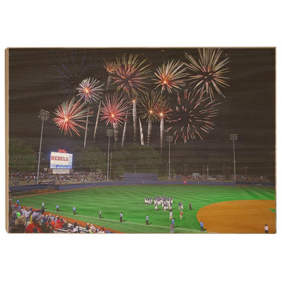 Ole Miss Rebels - More Fireworks Over Swayze - College Wall Art #Wood