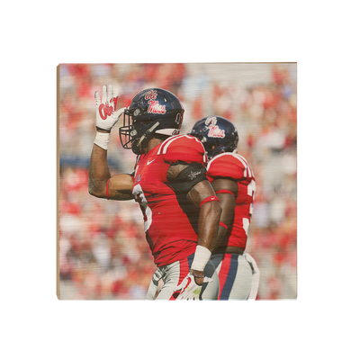 Ole Miss Rebels - Fins Up - College Wall Art #Wood