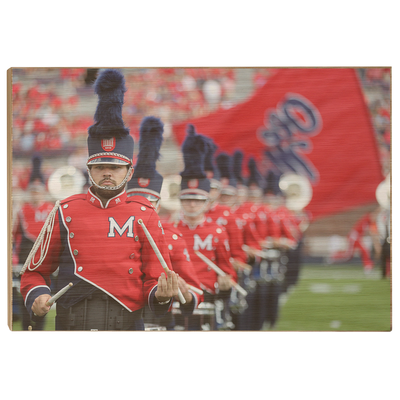 Ole Miss Rebels - Marching In - College Wall Art #Wood