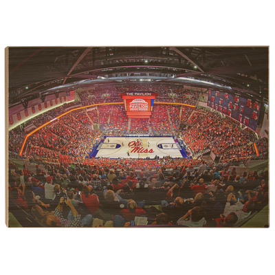 Ole Miss Rebels - The Pavilion Wide Angle - College Wall Art #Wood
