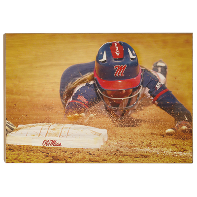 Ole Miss Rebels - Softball Safe - College Wall Art #Wood
