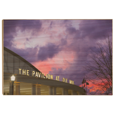 Ole Miss Rebels - The Pavilion at Ole Miss - College Wall Art #Wood