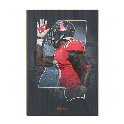 Ole Miss Rebels - Landshark State - College Wall Art #Wood