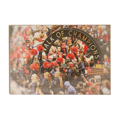 Ole Miss Rebels - Walk of Champions Cheer - College Wall Art #Wood