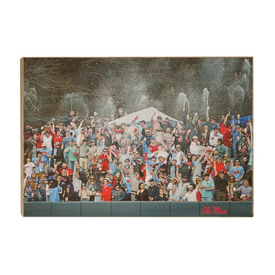 Ole Miss Rebels - The First Swayze Shower of Spring - College Wall Art #Wood