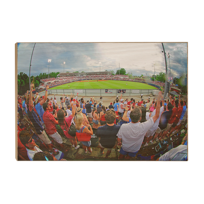 Ole Miss Rebels - Fisheye View of Swayze - College Wall Art #Wood