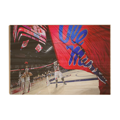Ole Miss Rebels - Ole miss Basketball - College Wall Art #Wood