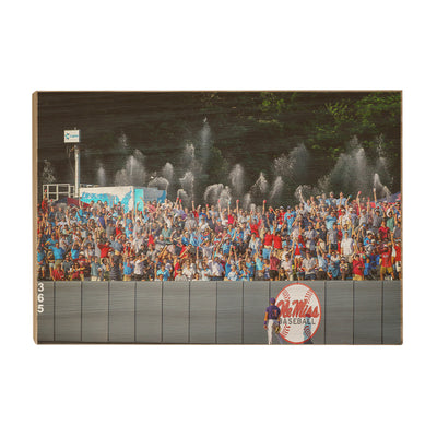 Ole Miss Rebels - Ole Miss Baseball Shower - College Wall Art #Wood
