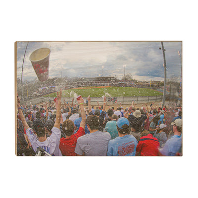 Ole Miss Rebels - Oxford Shower - College Wall Art #Wood