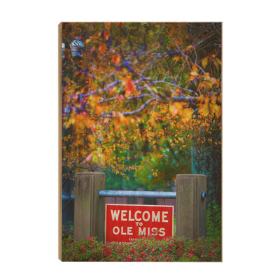 Ole Miss Rebels - Welcome to Ole Miss - College Wall Art #Wood