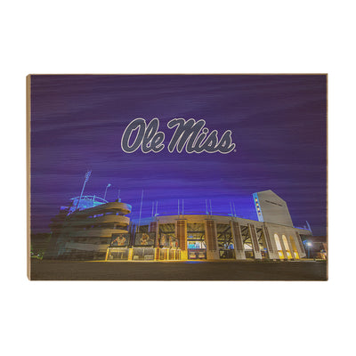 Ole Miss Rebels - Vaught Hemingway Stadium 2020 - College Wall Art #Wood