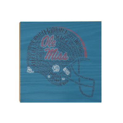 Ole Miss Rebels - Ole Miss Greats - College Wall Art #Wood