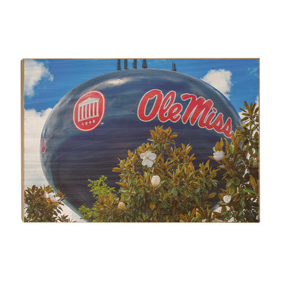 Ole Miss Rebels - Water Tower Magnolia - College Wall Art #Wood