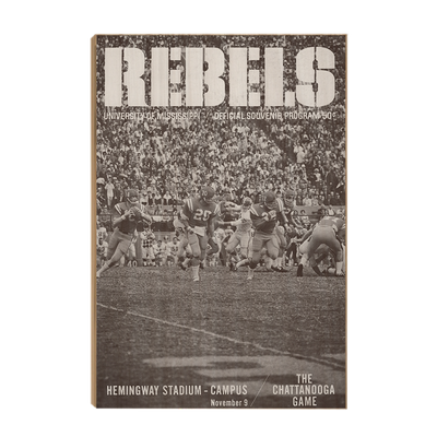 Ole Miss Rebels - Vintage Archie Manning - College Wall Art #Wood