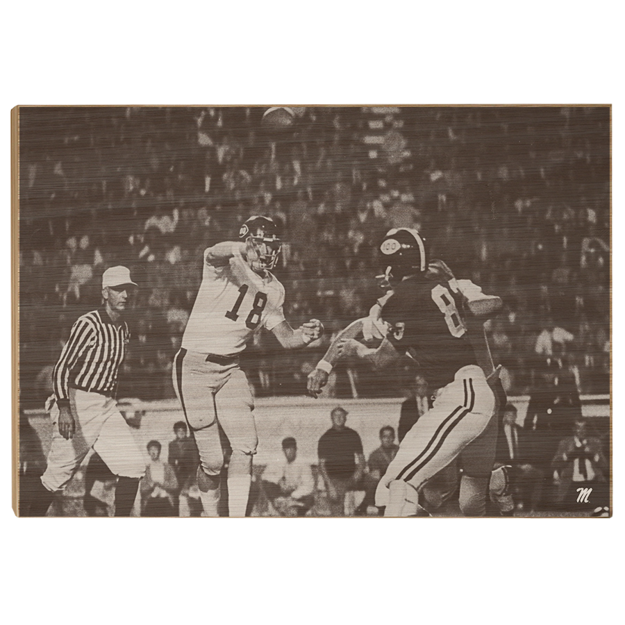 OLE MISS REBELS - Vintage Archie Manning Ole Miss vs Alabama '69 - College Wall Art #Canvas