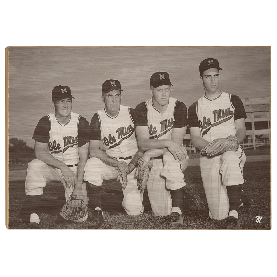 OLE MISS REBELS - Vintage Gibbs, Swayze, Khayat, Williams - College Wall Art #Canvas