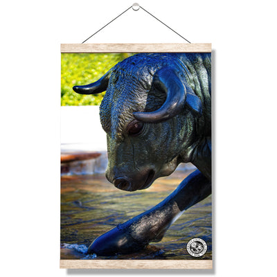 USF Bulls - Bulls statue close up w seal - College Wall Art #Hanging Canvas