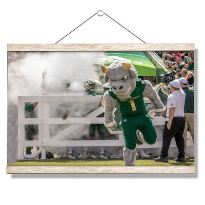USF Bulls -Bulls Stampeed - College Wall Art #Hanging Canvas