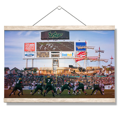 USF Bulls - USF vs Miami - College Wall Art #Hanging Canvas