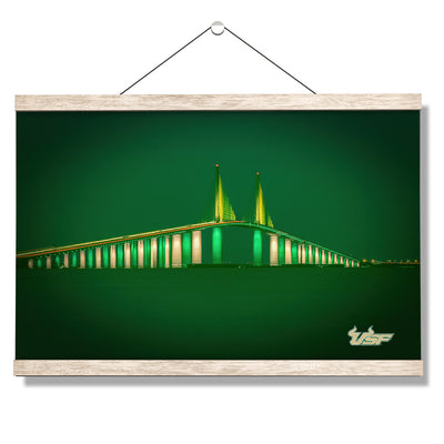 USF Bulls - USF 2020 Skyway - College Wall Art #Hanging Canvas