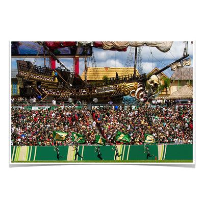 USF Bulls - Bulls in RayJay - College Wall Art #Poster