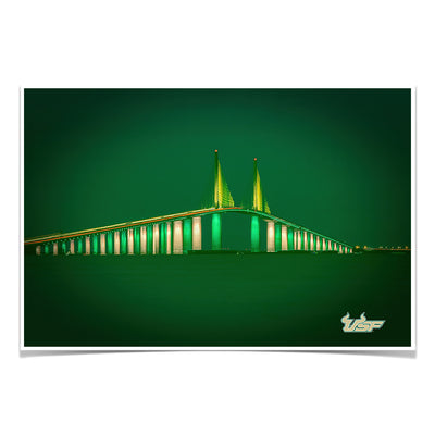USF Bulls - USF 2020 Skyway - College Wall Art #Poster