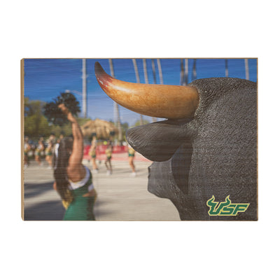 USF Bulls - Bulls Watch - College Wall Art #Wood
