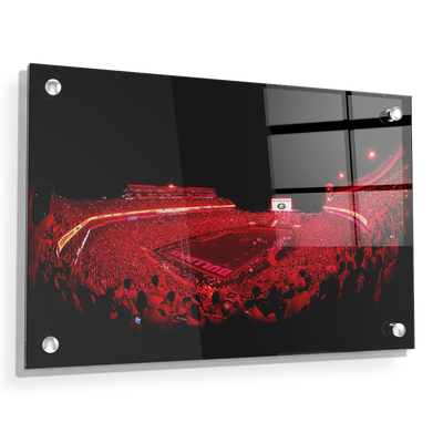 Georgia Bulldogs - Sanford Red Lights - College Wall Art #Acrylic