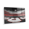 Georgia Bulldogs - Sanford Stadium End Zone Duotone - College Wall Art #Acrylic Mini