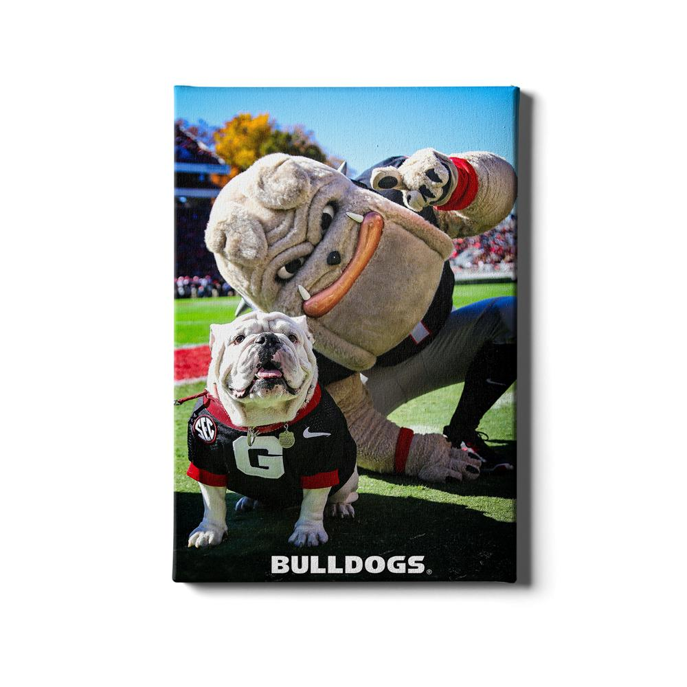 Georgia Bulldogs - Uga & Hairy the Dawg - College Wall Art #Canvas