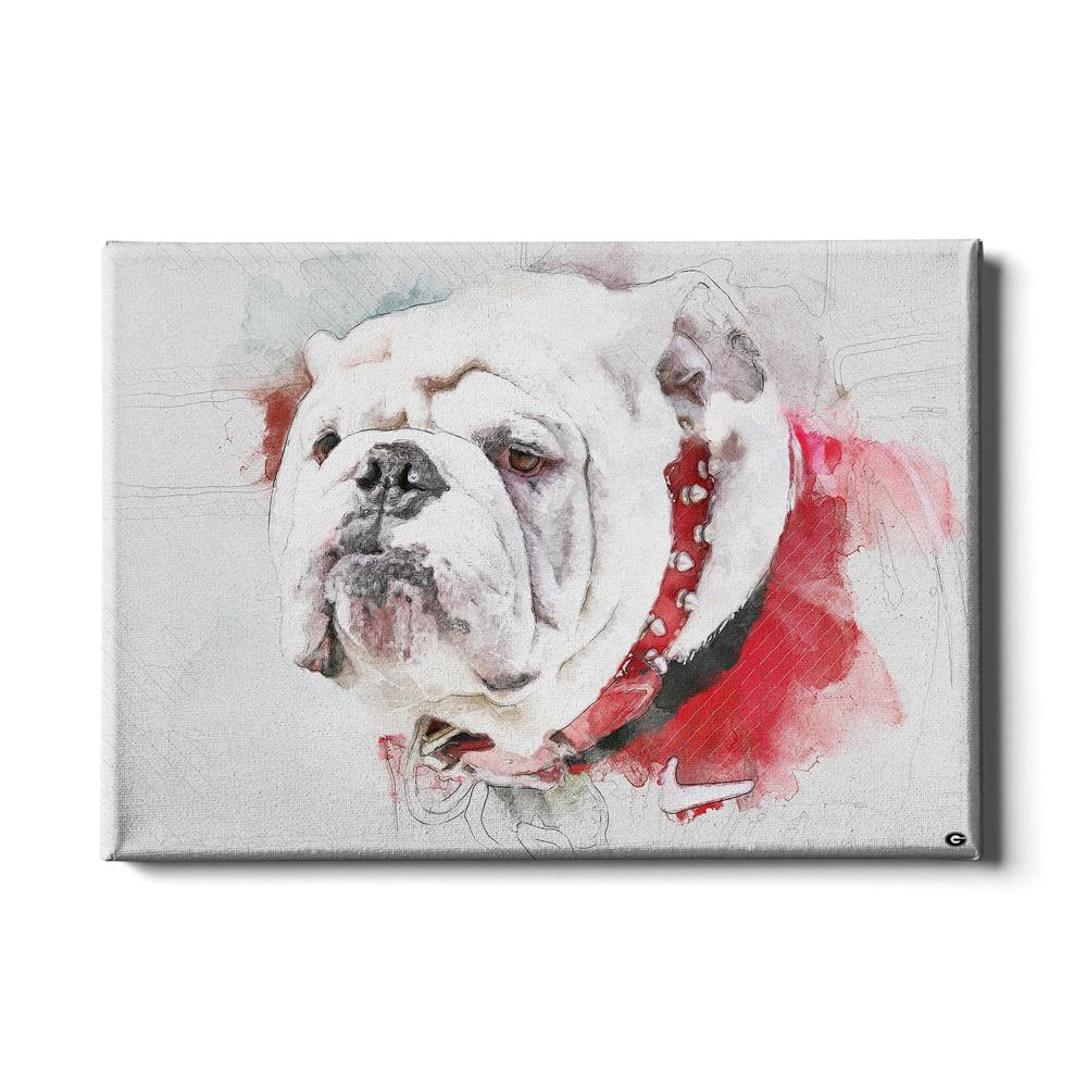 Georgia Bulldogs - Uga Painting - College Wall Art #Canvas