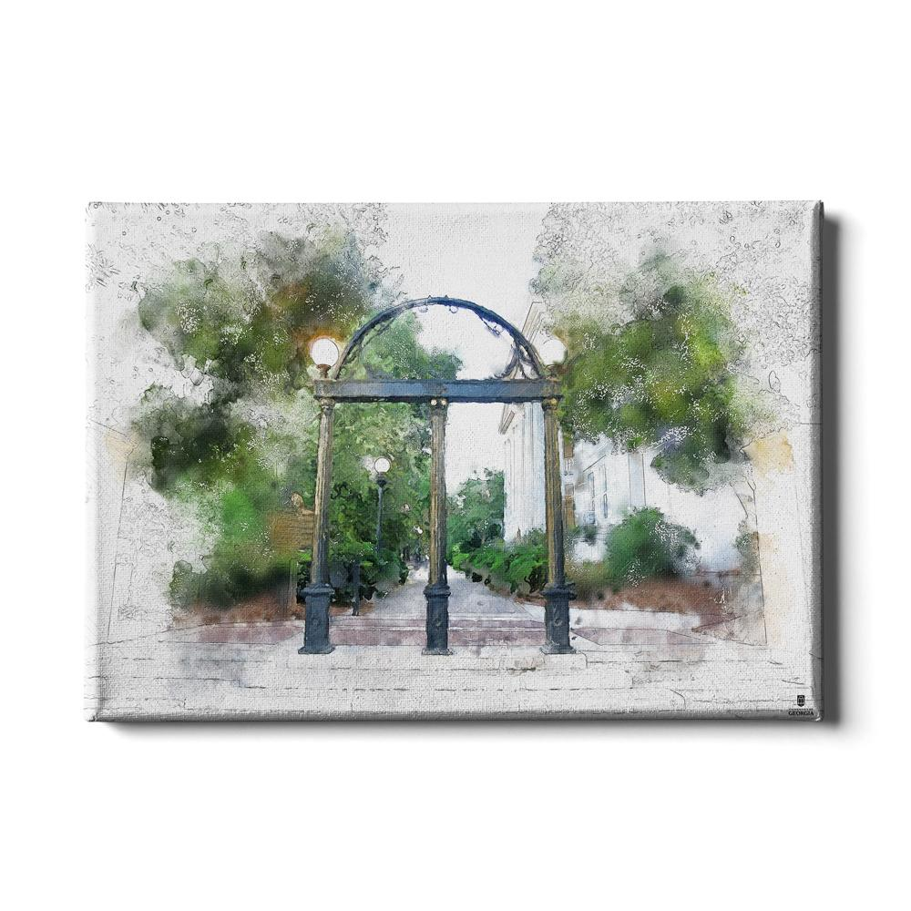 Georgia Bulldogs - Arch Painting - College Wall Art #Canvas
