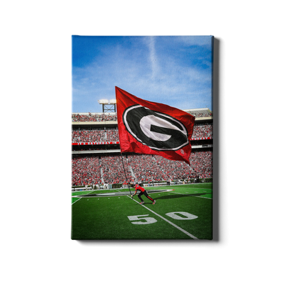 Georgia Bulldogs - The G Flag - College Wall Art #Canvas