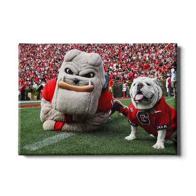 Georgia Bulldogs - Hairy and Uga Game Ready - College Wall Art #Canvas