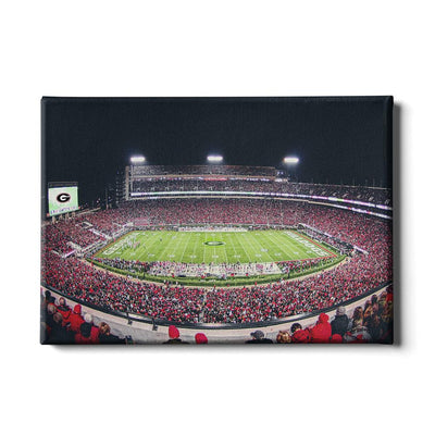 Georgia Bulldogs - Sanford Stadium 50 Yard Line - College Wall Art #Canvas