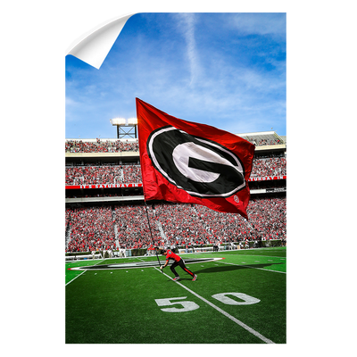Georgia Bulldogs - The G Flag - College Wall Art #Wall Decal