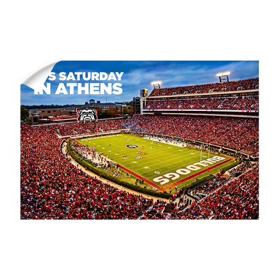 Georgia Bulldogs - It's Saturday in Athens - College Wall Art #Wall Decal