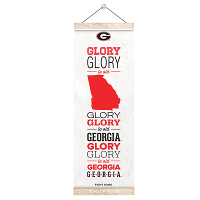 Georgia Bulldogs - Fight Song - College Wall Art #Hanging Canvas