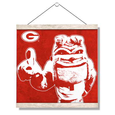 Georgia Bulldogs - Georgia Dawg - College Wall Art #Hanging Canvas