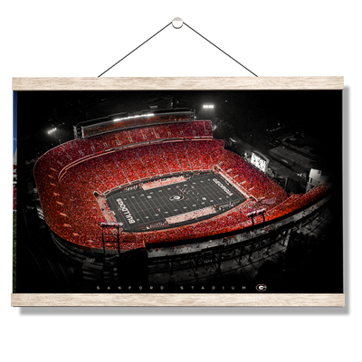 Georgia Bulldogs - UGA Sanford Stadium - College Wall Art #Hanging Canvas