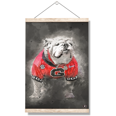 Georgia Bulldogs - The Dawg Painting - College Wall Art #Hanging Canvas
