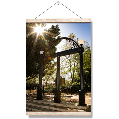 Georgia Bulldogs - Sunshine Arch - College Wall Art #Hanging Canvas