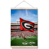 Georgia Bulldogs - The G Flag - College Wall Art #Hanging Canvas